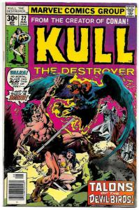 Kull The Destroyer #22 (Marvel, 1977) FN