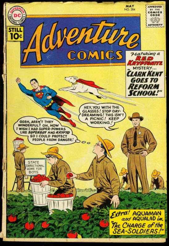 ADVENTURE COMICS #284-DC-SUPERBOY G