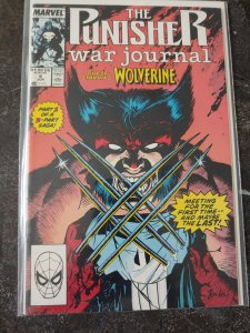 PUNISHER WAR JOURNAL 6  1ST WOLVERINE VS PUNISHER HIGH GRADE NM