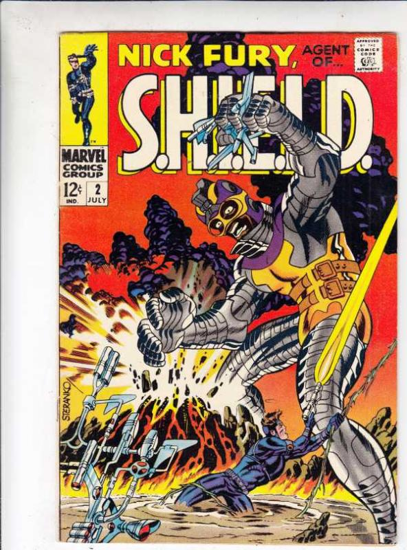Nick Fury Agent of S.H.I.E.L.D. #2 (Jul-68) VF/NM- High-Grade Nick Fury, S.H....