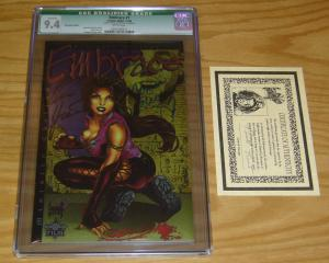 Embrace #1 CGC 9.4 chromium edition signed by CARMEN ELECTRA w/COA ministry ed.