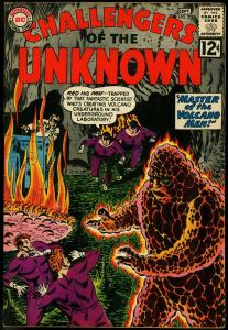 CHALLENGERS OF THE UNKNOWN #27 MONSTERS VOLCANO MEN FN/VF