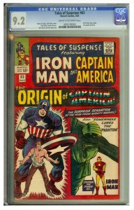 Tales of Suspense #63 (Marvel, 1963)  CGC Graded 9.2