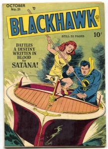 Blackhawk Comics #21 1948- Santana- Bill Ward Chop Chop VF-