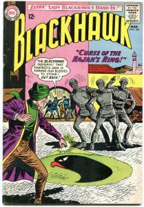 BLACKHAWK #182 1963-DC COMICS-RAJAHS RING!!! LADY BLACK FN+