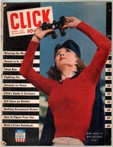 Click 3/1942-Bulldog Drummond-Robert E Lee pin-up girl-P/F
