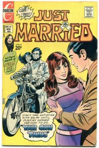 Just Married #89 1972- Charlton Romance- Motorcycle cover VG+