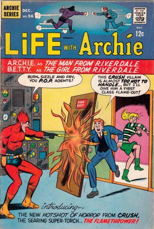 Life with Archie #56 (Dec-66) FN- Mid-Grade Archie, Jughead, Betty, Veronica,...