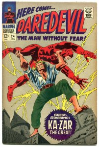 DAREDEVIL #24- comic book KA-ZAR-MARVEL- SILVER AGE fn+