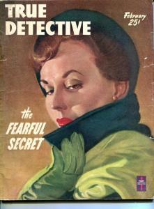 TRUE DETECTIVE-FEB 1950-G/VG-HARD BOILED-VENOM-KNIFE-MURDER-RAPE-CARDIFF  G/VG