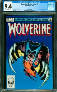 Wolverine Limited Series #2 CGC Graded 9.4 1st full appearance of Yukio.