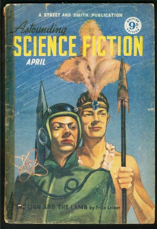 ASTOUNDING SCIENCE FICTION 1951 APR-BRITISH ED-PULP G