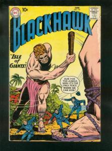 BLACKHAWK COMICS #137 1959-DC COMICS-ISLE OF GIANTS-FLYING SAUCER-vg VG