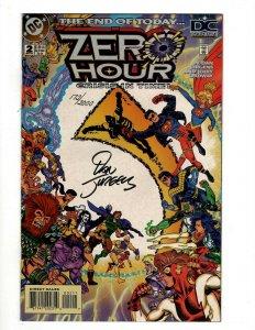 Zero Hour # 2 NM 1st Print SIGNED By Dan Jurgens WITH COA DC Comic Book OF2