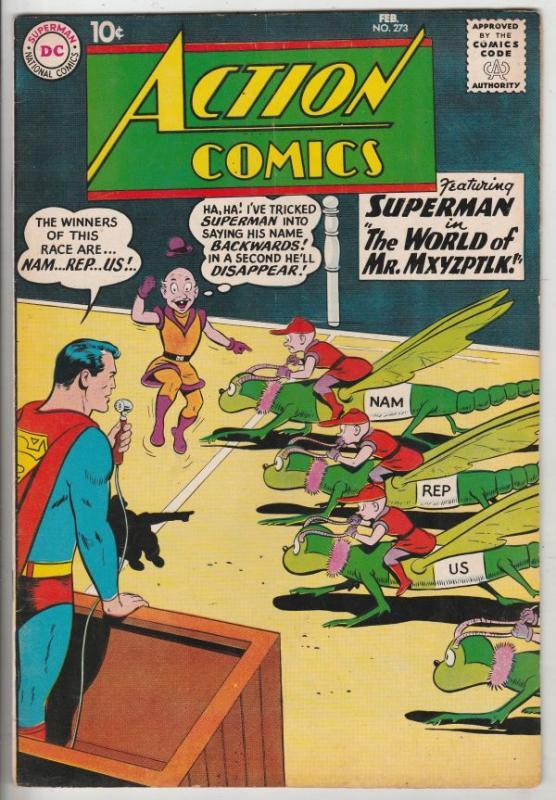 Action Comics #273 (Feb-60) VF+ High-Grade Superman, Supergirl