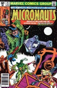 Micronauts #25 Marvel 1981 4.0 VG (Stock Photo)