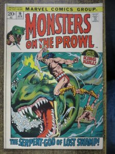 MONSTERS ON THE PROWL 16 VG  April 1972 COMICS BOOK