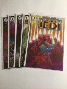 Star Wars Tales of The Jedi 1 2 3 4 5 Lot Run set Near Mint Nm Dark Horse