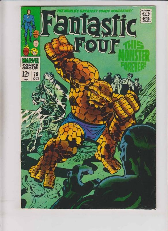 Fantastic Four #79 FN/VF stan lee - jack kirby - ben reverts to thing - marvel