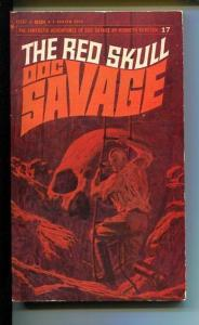 DOC SAVAGE-THE RED SKULL-#17-ROBESON-VG- JAMES BAMA COVER-1ST EDITION VG