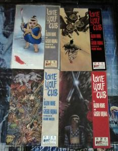Lone Wolf and Cub Lot! 4 issues- First Comics Version- Miller, Wagner Covers!