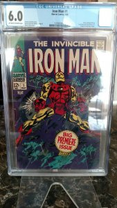 Iron Man #1 (Marvel, 1968) CGC FN 6.0 Off-white to white pages