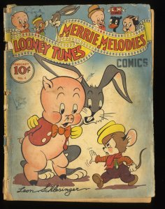Looney Tunes and Merrie Melodies #4 GD- 1.8 Very Scarce!