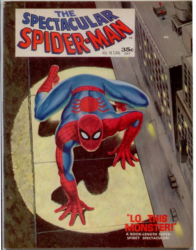 Spectacular Spider-Man (Magazine) #1 VF- 7.5  2nd City Pedigree - updated origin