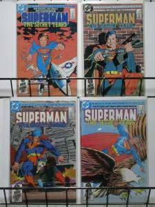 SUPERMAN SECRET YEARS (1985) 1-4  FRANK MILLER covers