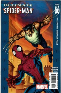 Ultimate Spider-Man #66 Brian Bendis Wolverine NM