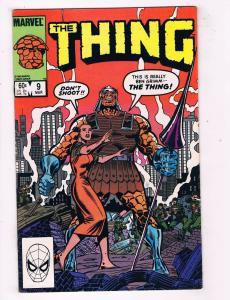 The Thing #9 VF Marvel Comics Bronze Age Comic Book Fantastic Four Mar 1984 DE45