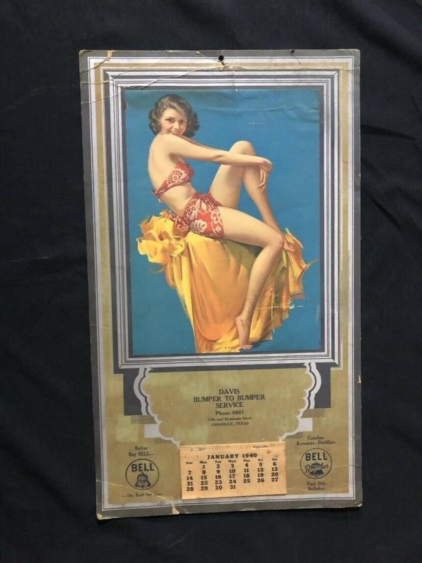 Rolf Armstrong Swimsuit Pin Up Calendar 1940
