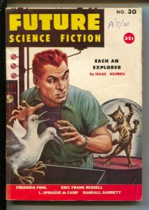 Future Science Fiction #30 1956-Isaac Asimov-Robert Silverberd-Frederik Pohl-...