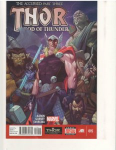 THOR GOD of THUNDER #15, NM, Accursed, 2014, more Marvel in store