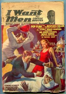 Detective Tales Pulp February 1939- Wild cover- Russell Gray reading copy