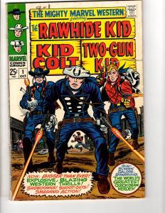 Mighty Marvel Western # 1 FN/VF Comic Book Rawhide Kid Kid Colt Two-Gun Kid JL17