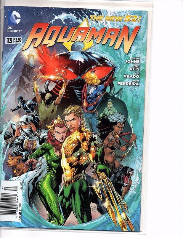 DC Comics Aquaman #13 The New 52! Mera Black Manta Geoff Johns