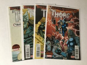 Thors 1-4 1 2 3 4 Battleworld Lot Set Run Nm Near Mint Marvel