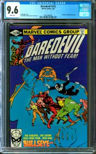 Daredevil #172 CGC Graded 9.6 Bullseye & Kingpin Appearance