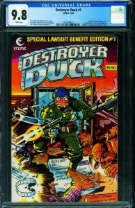 Destroyer Duck #1 CGC 9.8 1st appearance of GROO-1982-2053548015