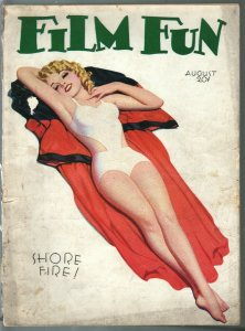 Film Fun 8/1932-Enoch Bolles pin-up girl cover-spicy pulp fun-G/VG