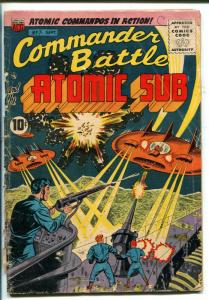 COMMANDER BATTLE AND THE ATOMIC SUB #7 1955-ACG-FLYING SAUCER-RARE-pr