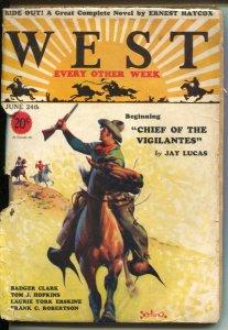 West 6/24/1931-Gerard C Delano cover art-pulp thrills-Jay Lucas-Frank C Rober...