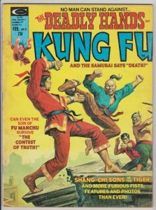 DEADLY HANDS OF KUNG FU #9 1975 MARVEL SHANG-CHI / DAVID BROWNBRIDGE INTERVIEW
