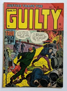 Justice Traps The Guilty #40 (Jul 1952, Prize) VG/FN 5.0 Mort Meskin Rudy Palais