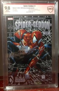 SPIDER-GEDDON #1-KRS-B Signed Homage Black and Silver Cover 9.8