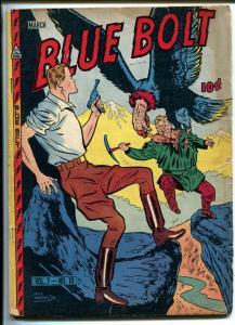 BLUE BOLT VOL 7 #10 1947-SGT SPOOK-DON RICO-GERMAN LUGER-vg minus