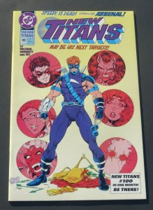 The New Titans #99 NM- 9.2 White Pages DC Comic Book 1st App. Arsenal 1993