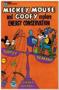 MICKEY MOUSE & GOOFY EXPLORE ENERGY CONSERVATION -1978