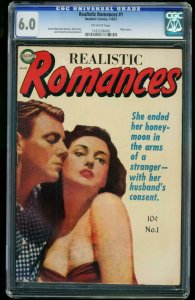 Realistic Romances #1-CGC 6.0 Highest Graded-SOUTHERN STATES 1161206006